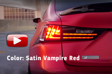 - Color: Satin Vampire Red
